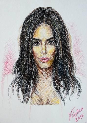 Sketch Portrait Kim Kardashian.  / Скетч(зарисовок) Портрет Ким Кардашян.