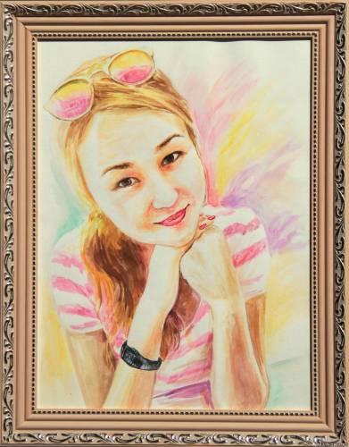 Портрет девушки. из Алматы.