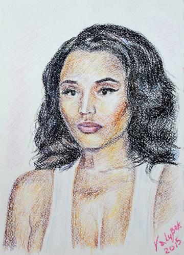 Sketch Portrait Nicki Minaj. / Скетч(зарисовок) Портрет Никки Минаж.
