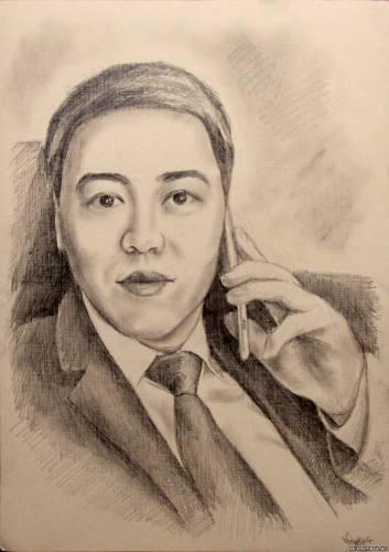 Портрет мужчины из Астаны.