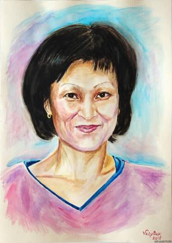 Портрет женщины  из Алматы.
