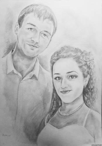 Портрет пары из Алматы.