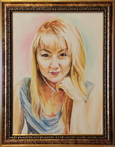 Портрет Девушки из Алматы