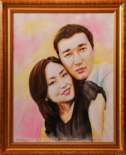 Портрет пары в Алматы.