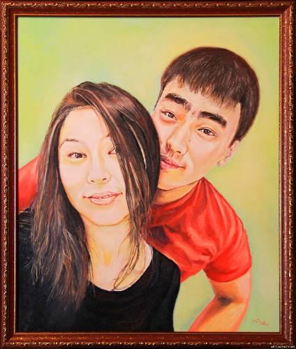 Портрет пары в Алматы