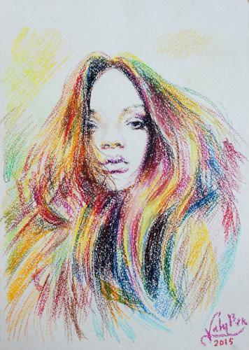 Sketch Portrait Rihanna. / Скетч(зарисовок) Портрет Рианна.